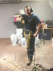 Thome Plumbing cast iron pipe replacement and other basement plumbing services.