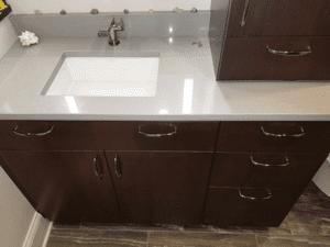 Thome Plumbing bathroom sink remodel.